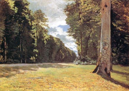 Monet, Claude: The Pave de Chailly in the Fontainebleau Forest. Fine Art Print.  (00770)